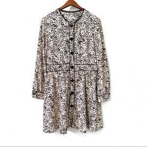 NWT Zara Basic Black White Long Sleeve Dress